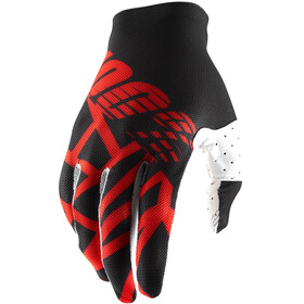 100% Celium 2 Gloves Black/Red/White